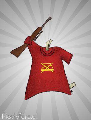 Polera o remera o camiseta o playera con una kalashnikov.