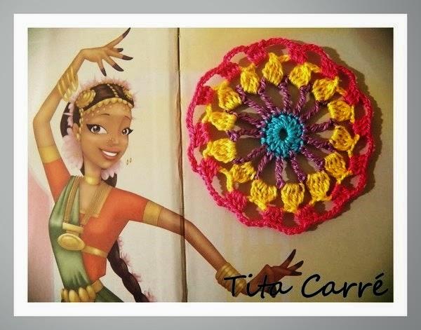 Princesa Indiana com Crochet e o colorido