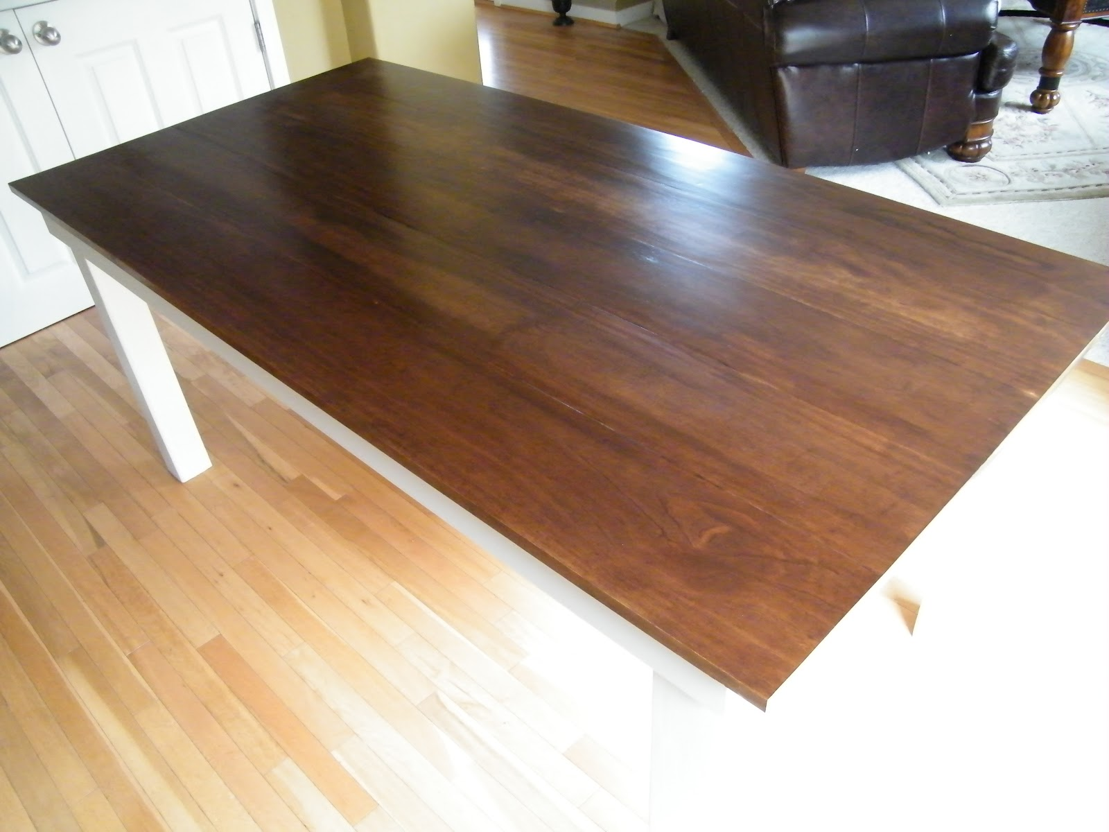 Between The Ana White Rustic Table And The Farm House Table. Our Wood . Full resolution  image, nominally Width 1600 Height 1200 pixels, image with #A16E2A.