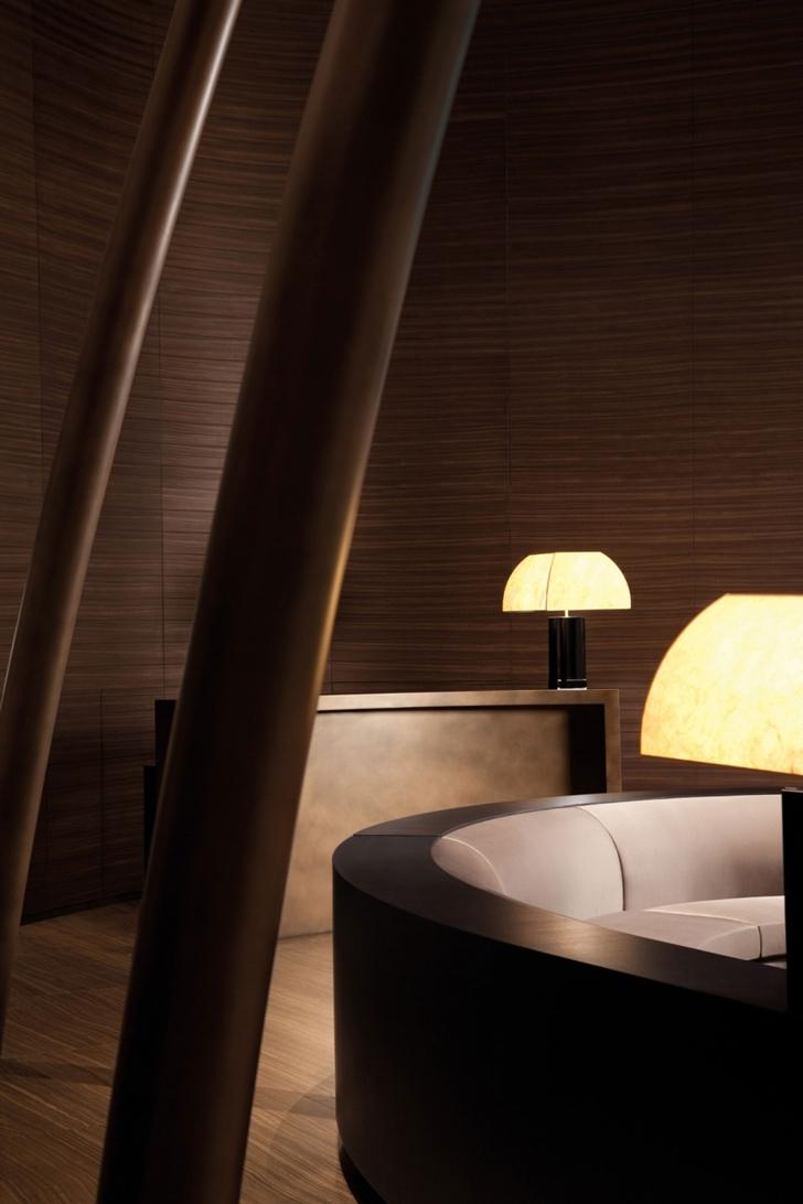 Lobby design in Armani Burj Khalifa Hotel Dubai