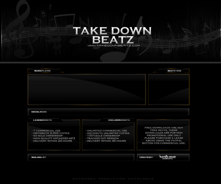 Custom SoundClick Design For :: TakeDown beatz