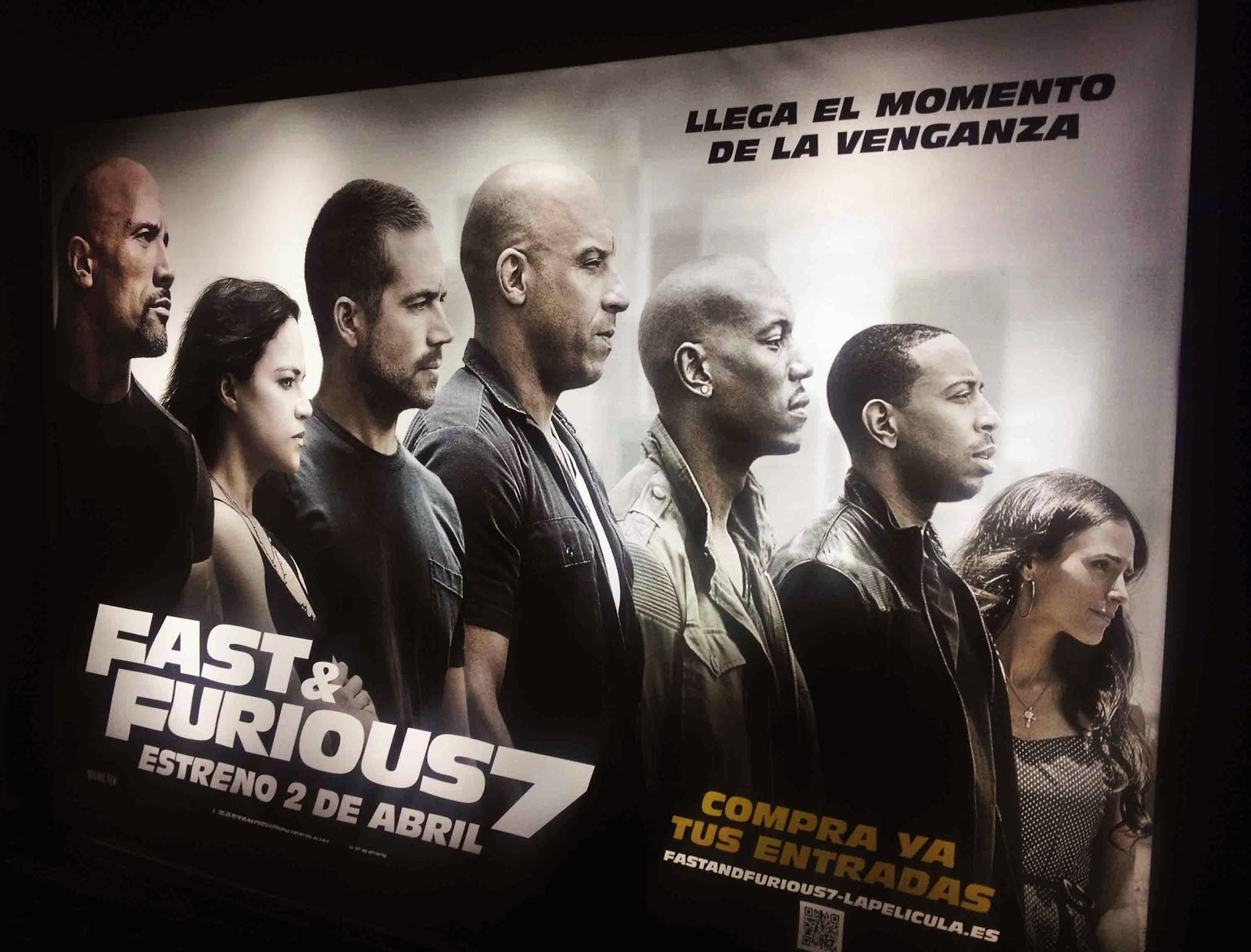 Cartel promocional de Fast and Furious 7
