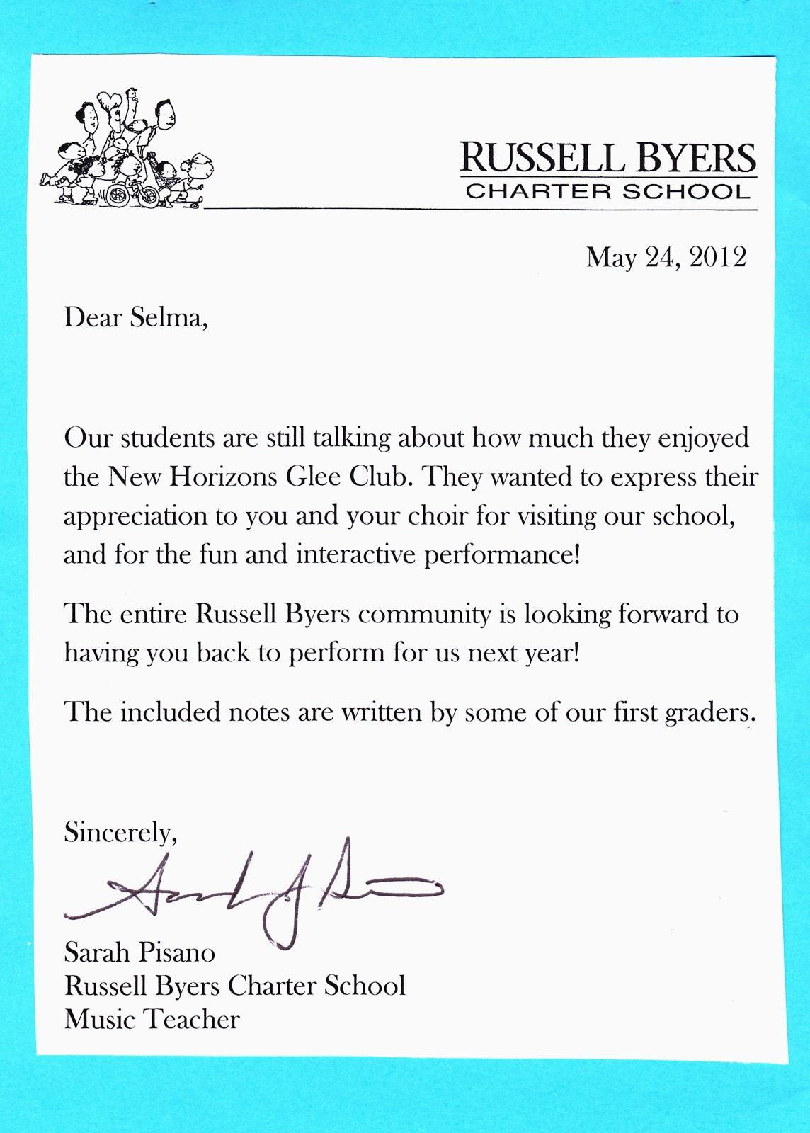 Beginning music teacher cover letter