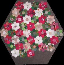 ProsperityStuff Christmas EPP Hexagon Quilt