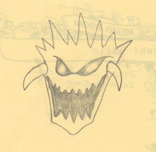 Original Demon Head Sketch