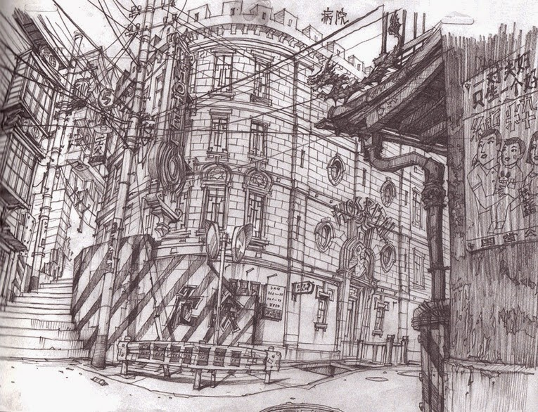 07-Teikoku-Shounen-Architectural-Drawings-in-Color-and-Black-and-White-www-designstack-co