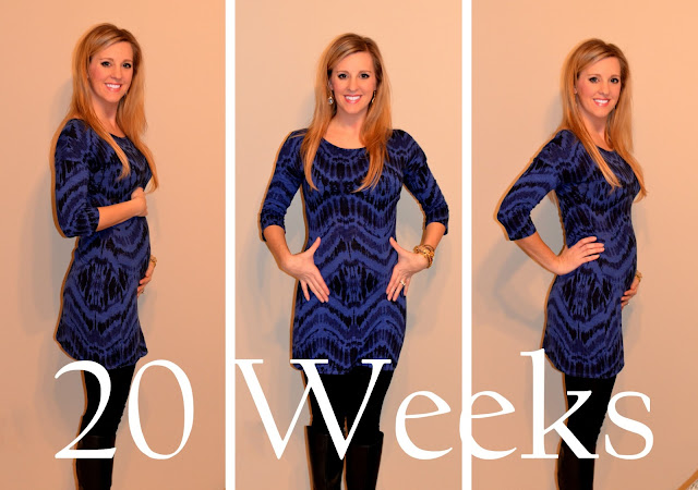 20 weeks pregnant belly - baby bump picture