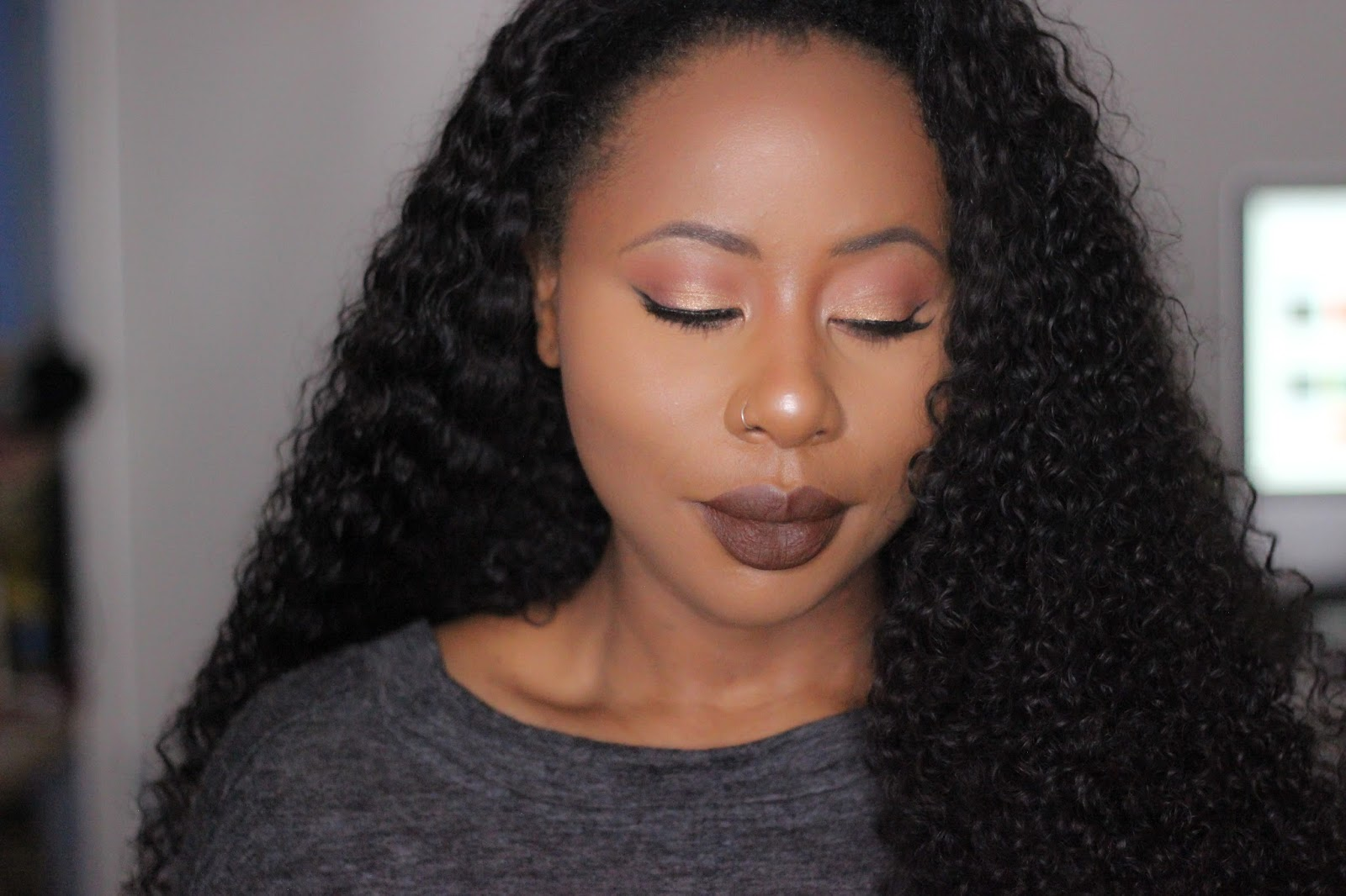 kylie jenner brown lip inspired dark skin makeup tutorial mua_larisa