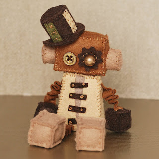 Steampunk Robot Plush