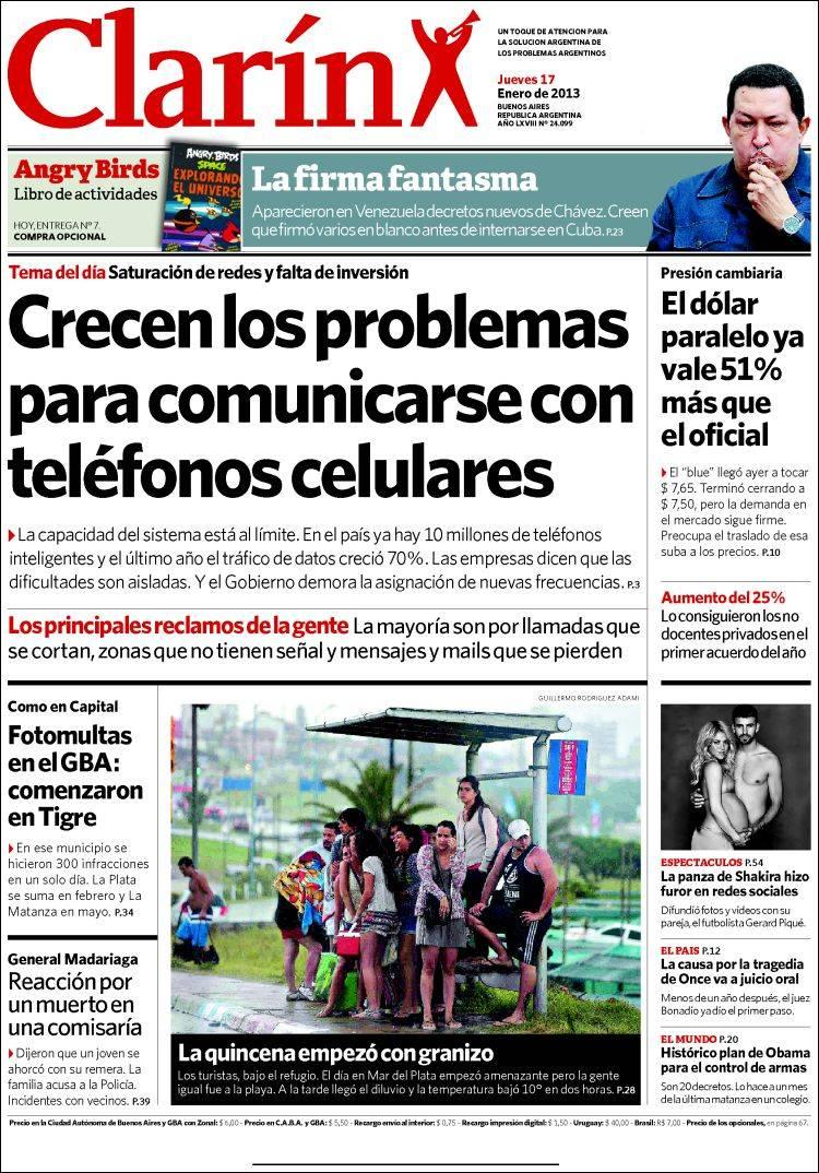 shakira argentina shakira en el diario clar n del d a