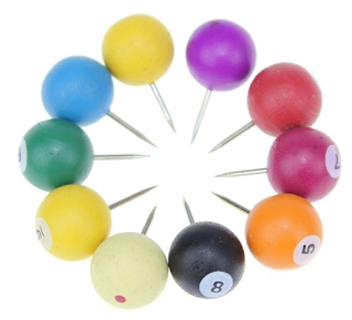 Billiard Push Pins from Infmetry