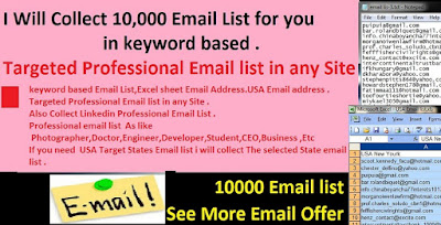 10,000 Email List, Email List