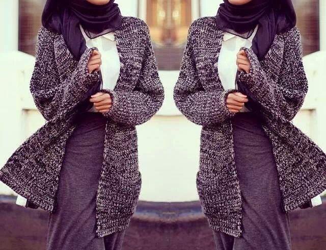 Hijab Fashion Winter 2015 2016 Hijab Chic Turque Style