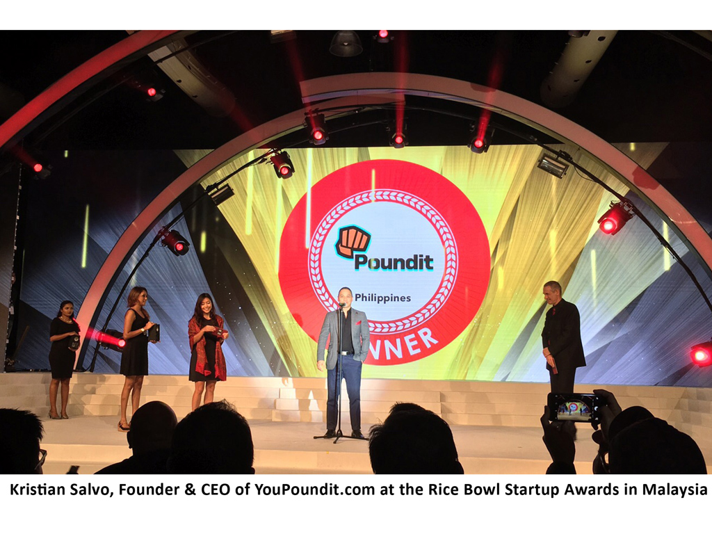 YouPoundit.com, a Filipino Online Store Won Retail Startup of the Year at Rice Bowl Awards Malaysia