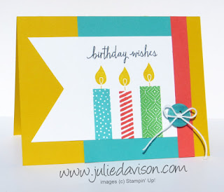 Stampin' Up! Build a BIrthday Card for Pocket Sketch Challenge #1 #stampinup www.juliedavison.com