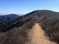 View south toward the north ridge of Summit 3397 from Lower Monroe Road (2N16), Angeles National Forest