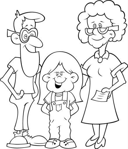 Imagenes de una familia nuclear para colorear - Imagui