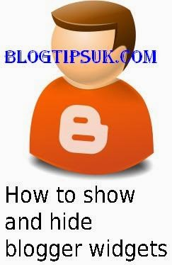 show and hide blogger widgets