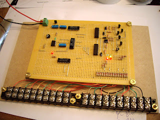 Completed traffic light controller module