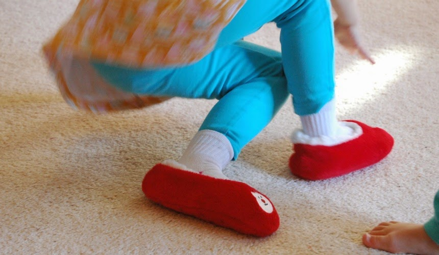 Keep your kids active with this gross motor game for winter