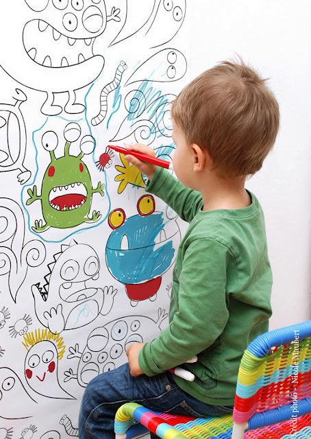 Pintar el papel pintado fatidica gala deco miscelanea - Papier peint a colorier ...
