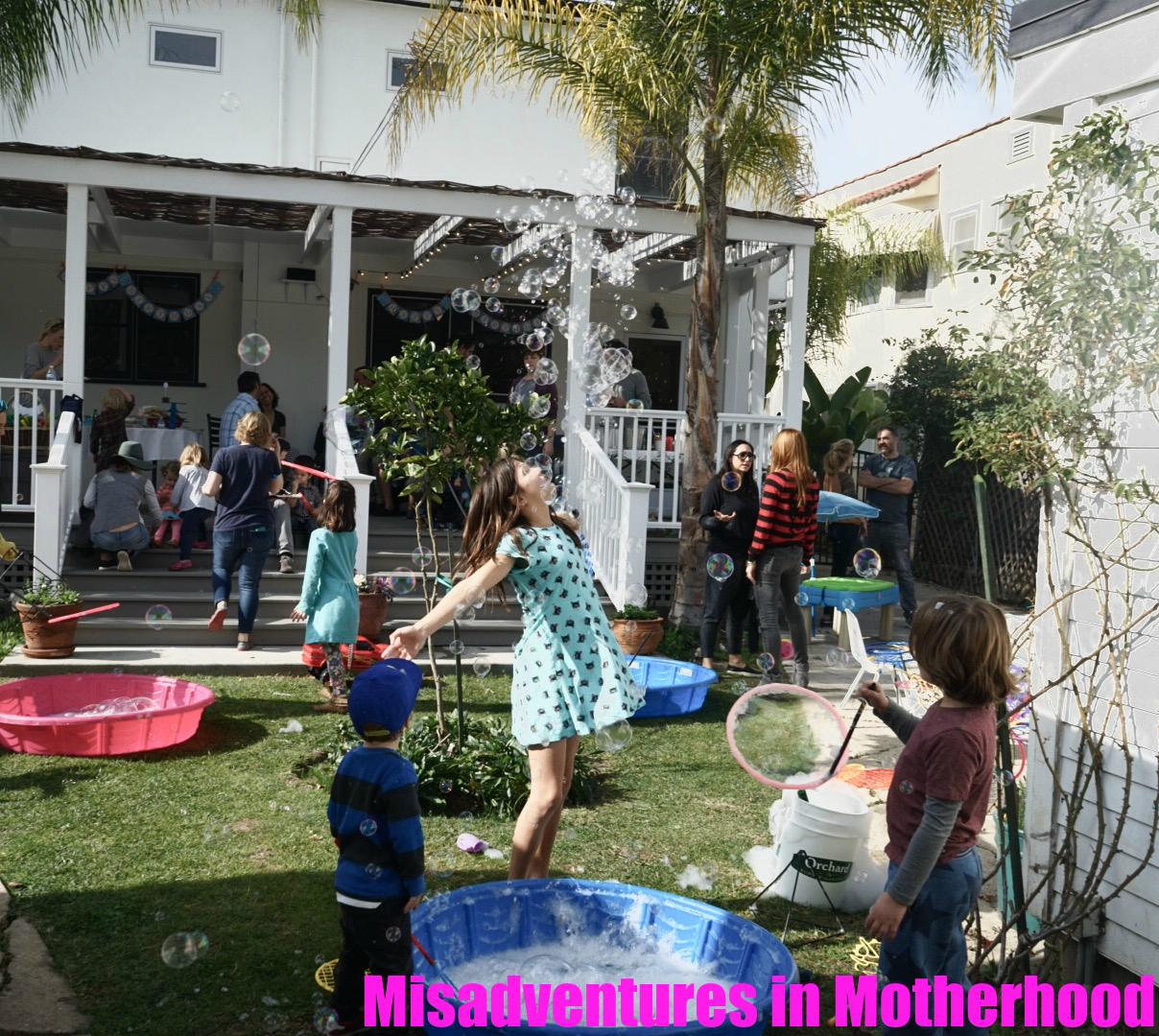 misadventures in motherhood noah u0027s bubble birthday party