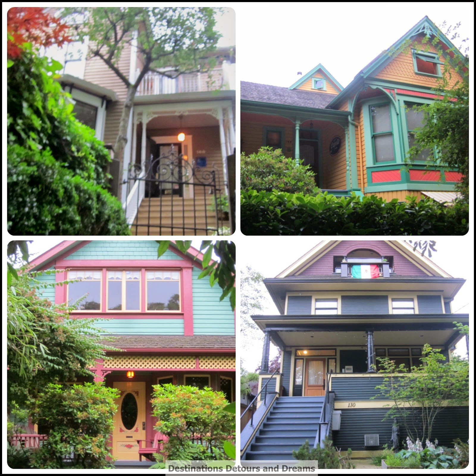 Heritage homes in Mount Pleasant neighbourhood