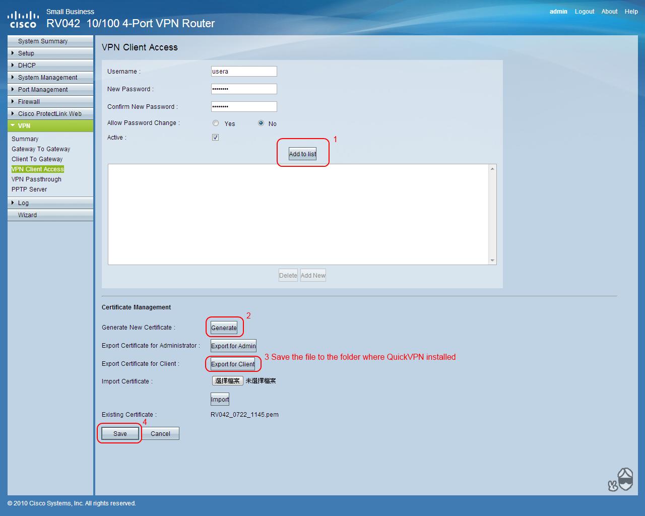 linksys quickvpn client download