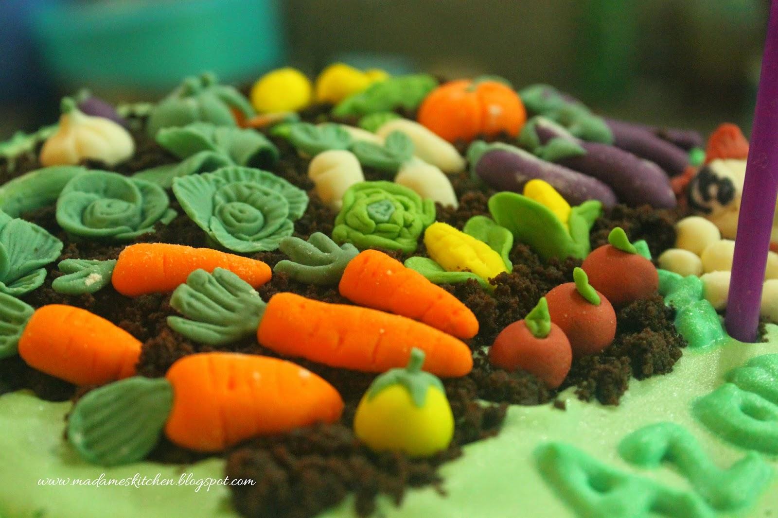 Madame's Kitchen: Vegetable Garden Cake