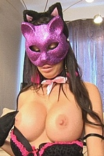 Halloween kitty Tiffany sucks & jerks a cock with a facial finale - My Best Fetish