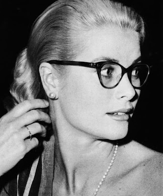 Grace Kelly in catseye glasses