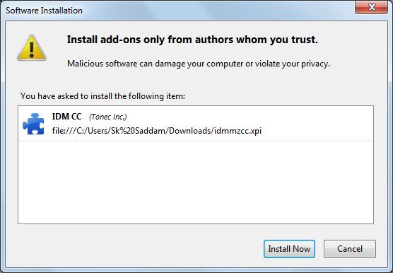 Install IDM CC (Add-On) For Firefox Integration   Safe Trick