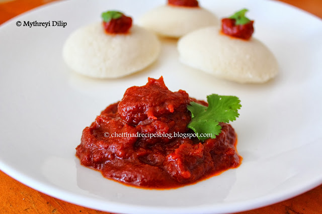 tomato chutney / thakkali chutney - bachelor recipes