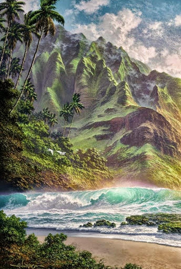 pinturas-paisajes-realistas-de-hawai