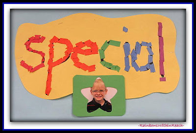"photo of: ""I am special"" mosaic kinder response to ""You're Wonderful"" by Debbie Clement"