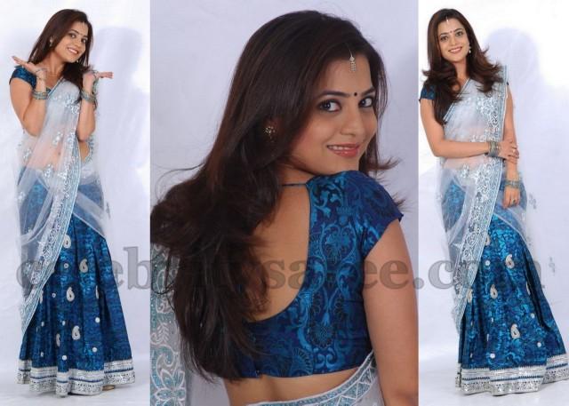 Nisha Aagarwal in Brasso Half Saree