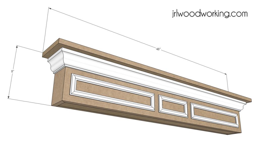Furniture Plans: 4-Foot Mantel Wall Shelf