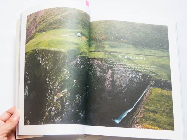 double page spread of scenery