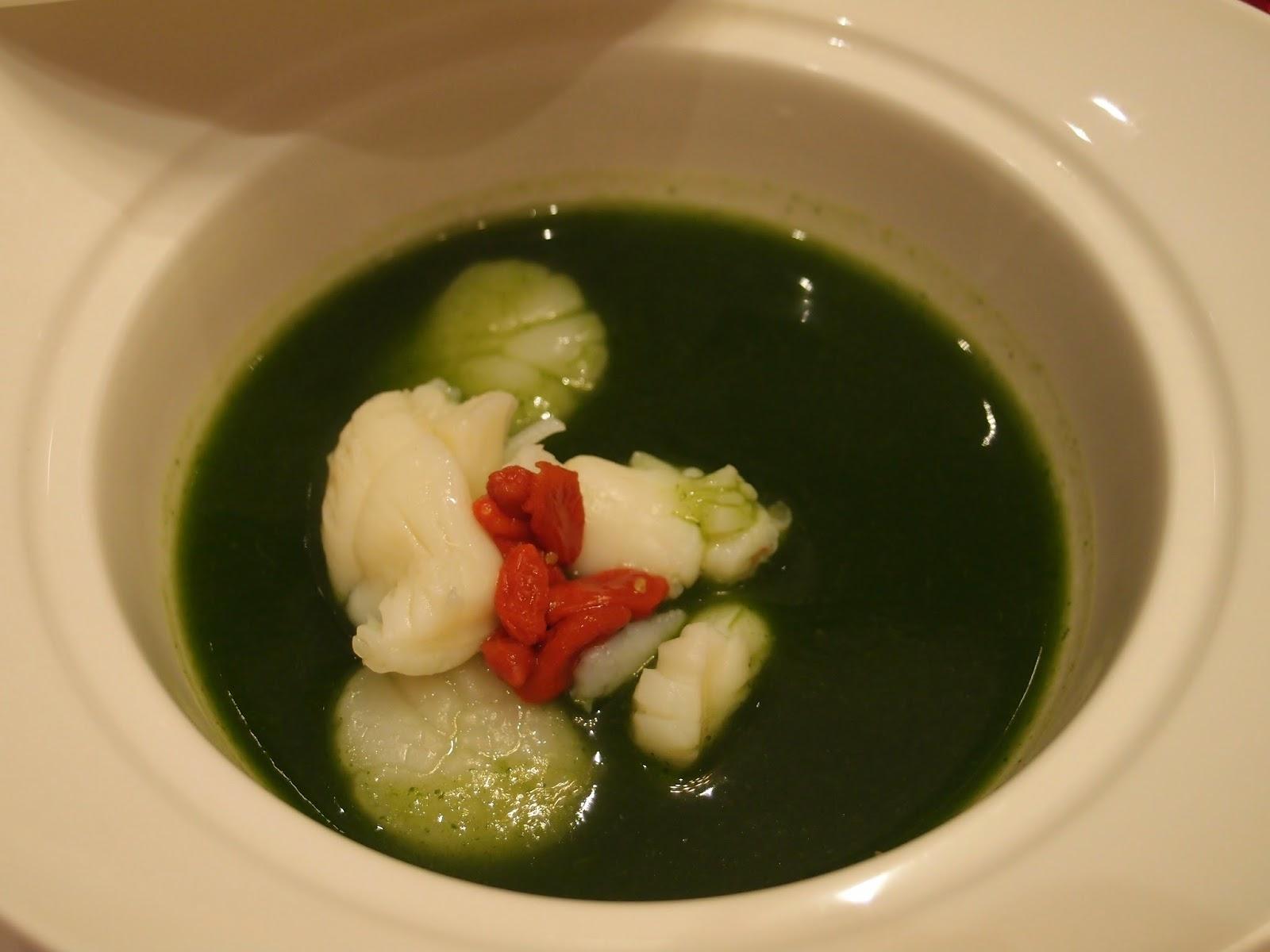 龙虾带子西洋菜汤