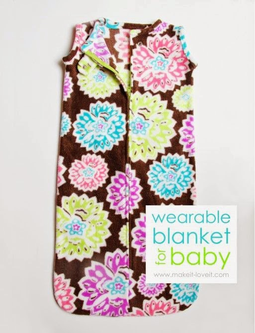 Wearable Baby Blanket Tutorial by Make It and Love It - TONS of baby blanket tutorials!