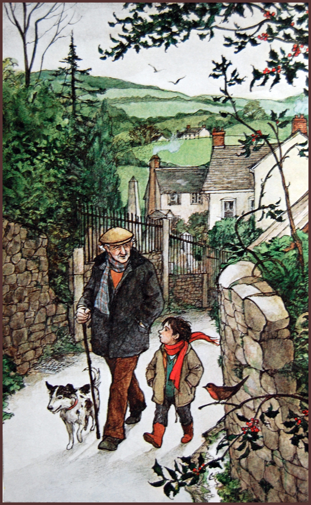 back in november i scanned a few of trina schart hymans illustrations of a childs christmas in wales by dylan thomas to share with you and i had already - Christmas In Wales
