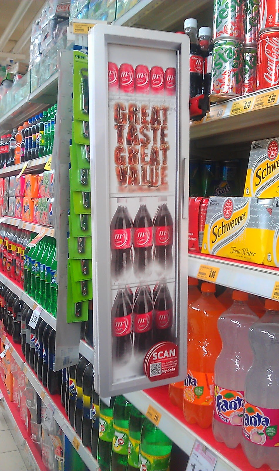 M Cola Shelf Banner The Selling Points