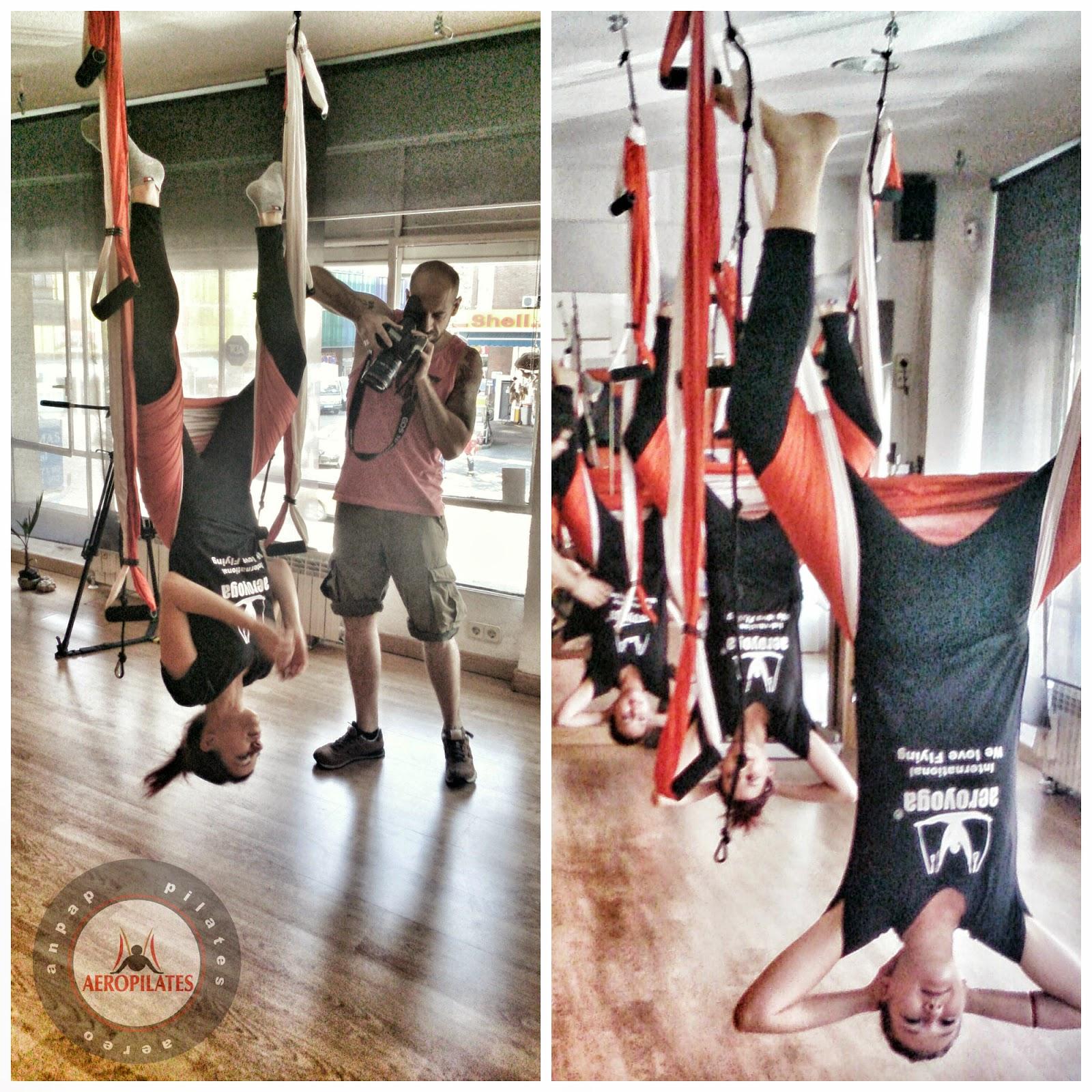 yoga aereo trapecio