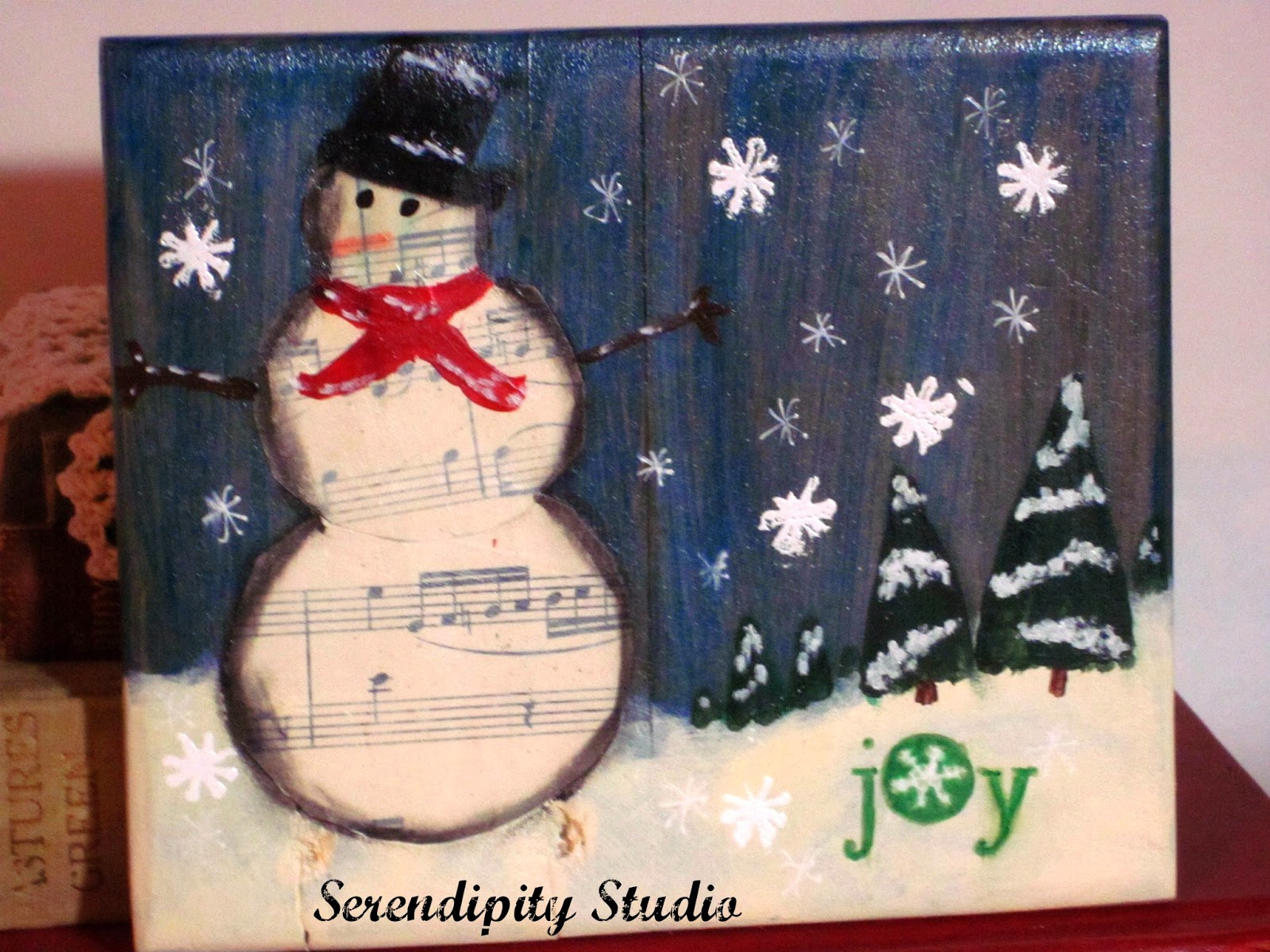 snowman wood canvas, redeem wood