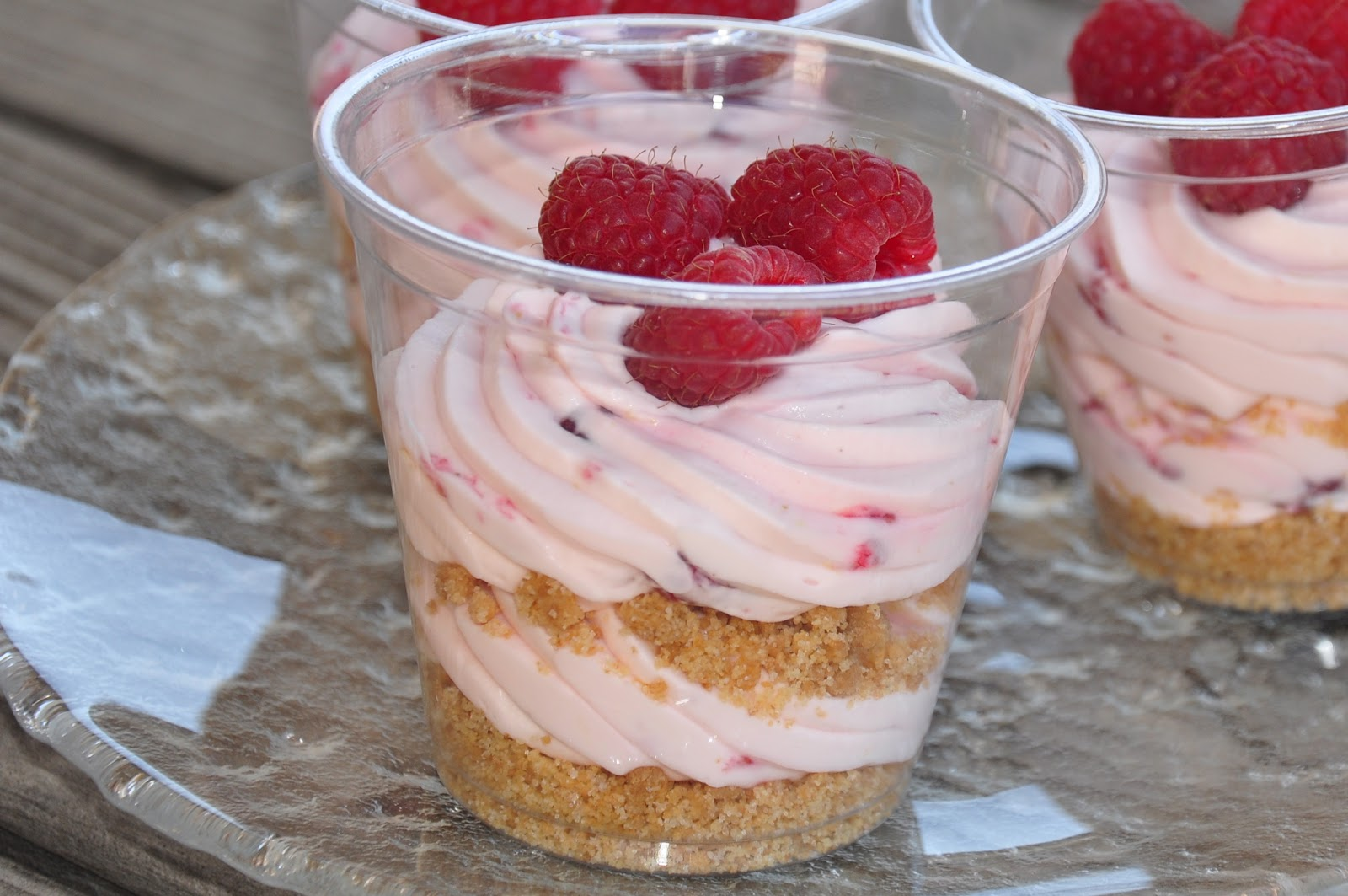The Changeable Table: No Bake Raspberry Lemon Cheesecakes In a Cup