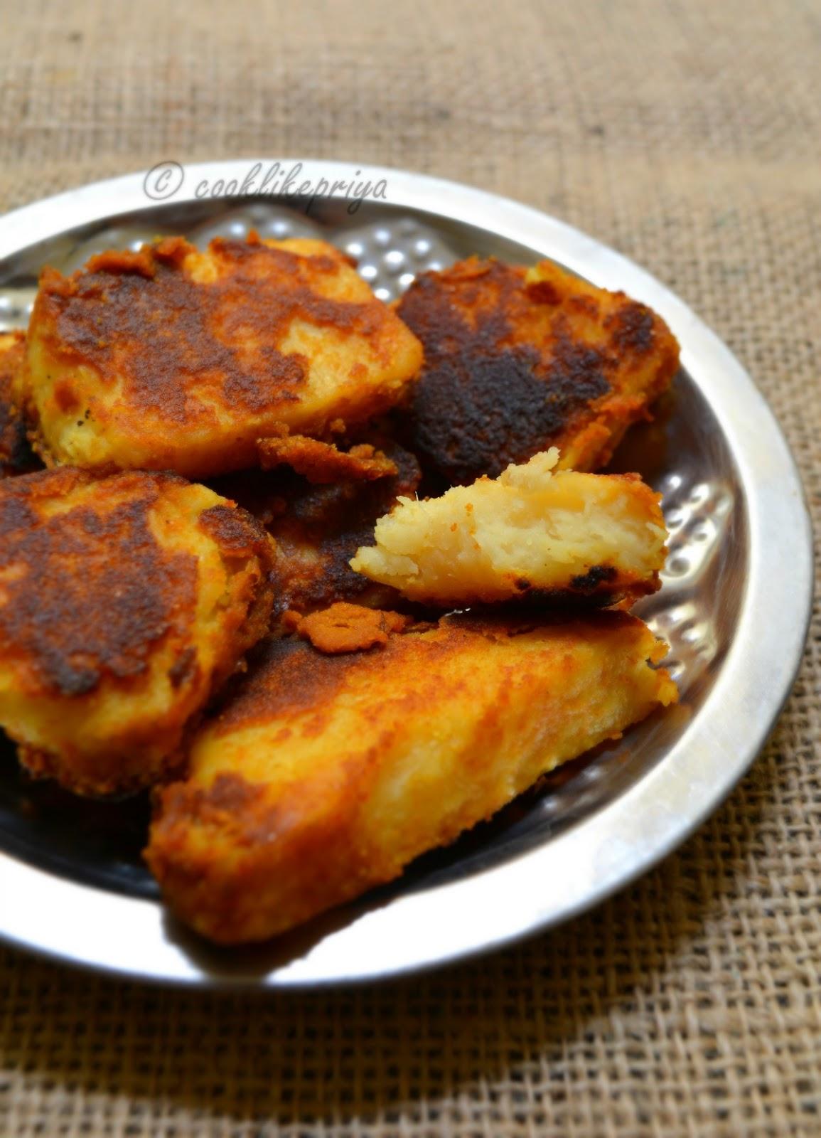 Elephant Yam spicy fry