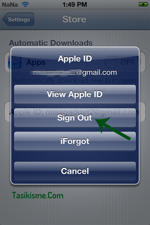 Ganti Apple ID di iPod Touch