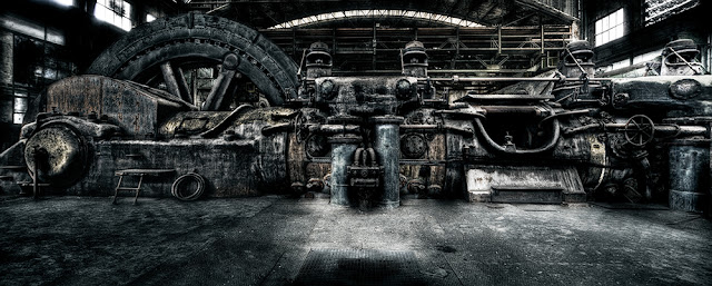 steam,engine,old,abandoned,hdr,industry,steel,iron