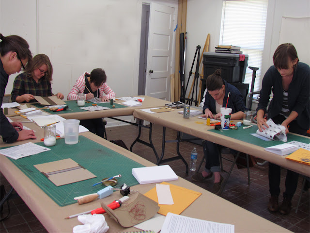Frank Hamrick's bookmaking workshop at Masur Museum