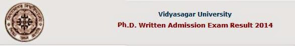 Vidyasagar University Ph.D. Written Exam Result 2014